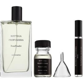 Bottega Profumiera Rose Poudre ajándékszett I. Eau de Parfum 100 ml + parfümös víz utántöltő 30 ml + utántölthető üveg 10 ml + tölcsér