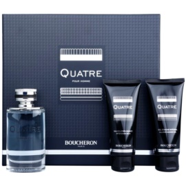 Boucheron Quatre coffret I. Eau de Toilette 100 ml + bálsamo after shave 100 ml + gel de duche 100 ml