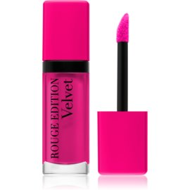 Bourjois Rouge Edition Velvet barra de labios líquida con efecto mate tono 06 Pink Pong 7,7 ml