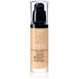 Bourjois 123 Perfect fond de ten lichid  pentru look perfect culoare 54 Beige SPF 10  30 ml