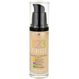 Bourjois 123 Perfect Flüssiges Make Up für einen perfekten Look Farbton 51 Vanille Clair SPF 10  30 ml