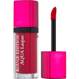 Bourjois Rouge Edition Aqua Laque rouge à lèvres hydratant brillance intense teinte 07 Fuchsia Perche 7,7 ml