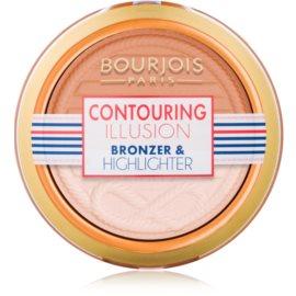 Bourjois Contouring Illusion bronzosító púder árnyalat 23 Contouring Duo 8 g