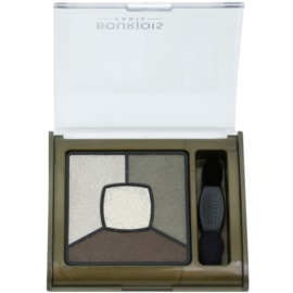 Bourjois Smoky Stories Palette mit rauchigen Lidschatten Farbton 04 Rock This Khaki 3,2 g