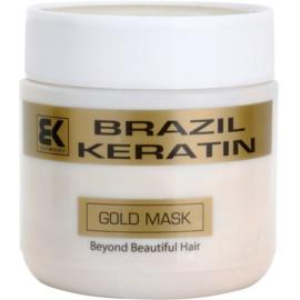 Brazil Keratin Gold відновлююча маска з кератином для пошкодженого волосся  500 мл