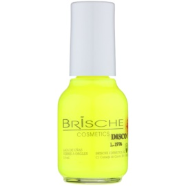 Brische Nail Polish Disco neonový lak na nehty odstín 1 Neon Yellow 14 ml