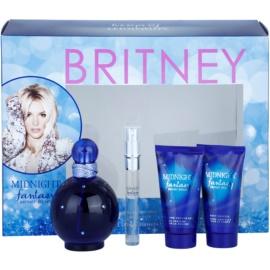 Britney Spears Fantasy Midnight dárková sada II. parfemovaná voda 100 ml + parfemovaná voda 10 ml + tělový krém 50 ml + sprchový a koupelový gel 50 ml