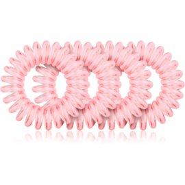 BrushArt Hair Rings Haargummi 4 Stück Clear Pink 4 St.
