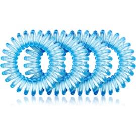 BrushArt Hair Rings Haargummi 4 Stück Clear Blue 4 St.