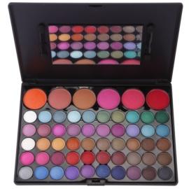 BrushArt 60 Color palete de sombras e blushes com espelho e aplicador