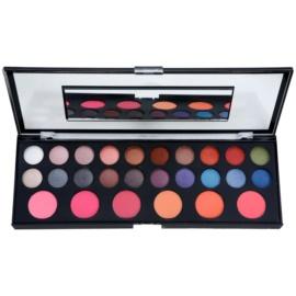 BrushArt Pro Makeup paleta očních stínů a tvářenek se zrcátkem