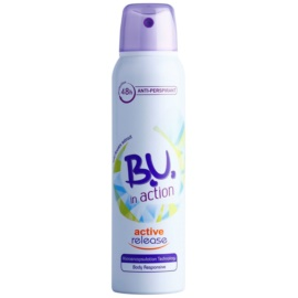 B.U. In Action Active Release antitranspirante para mujer 150 ml