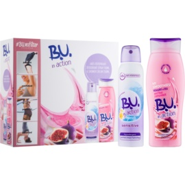 B.U. In Action - My Smoothies! Yogurt + Fig darilni set II.  krema za prhanje 250 ml + antiperspirant 150 ml