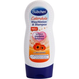 Bübchen Calendula gyermek tisztító gél és sampon 2 az 1-ben  230 ml