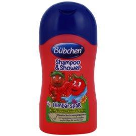 Bübchen Kids šampon a sprchový gel 2 v 1 cestovní balení Himbeere 50 ml