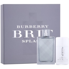 Burberry Brit Splash dárková sada III.  toaletní voda 100 ml + deostick 75 ml