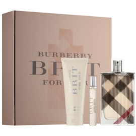 Burberry Brit for Her Geschenkset XII.  Eau de Parfum 100 ml + Körperlotion 75 ml + Eau de Parfum 7,5 ml