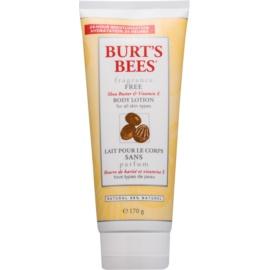 Burt's Bees Shea Butter Vitamin E tělové mléko s bambuckým máslem bez parfemace  170 g