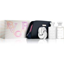 Bvlgari Omnia Crystalline darilni set XVIII.  toaletna voda 65 ml + losjon za telo 75 ml + gel za prhanje in kopel 75 ml + torbica