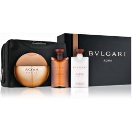 Bvlgari AQVA Amara dárková sada IV. toaletní voda 100 ml + sprchový gel 75 ml + balzám po holení 75 ml + kosmetická taška
