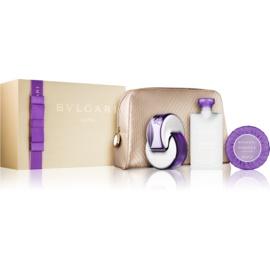 Bvlgari Omnia Amethyste dárková sada VII.  toaletní voda 65 ml + tělové mléko 75 ml + mýdlo 75 g + kosmetická taška 1 ks