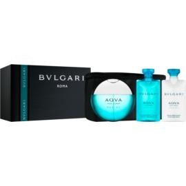 Bvlgari AQVA Marine Pour Homme Geschenkset XII. Eau de Toilette 100 ml + After Shave Balsam 75 ml + Duschgel 75 ml + Kosmetiktasche