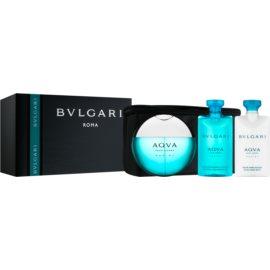 Bvlgari AQVA Marine Pour Homme coffret XII.  Eau de Toilette 100 ml + bálsamo after shave 75 ml + gel de duche 75 ml + bolsa de cosméticos