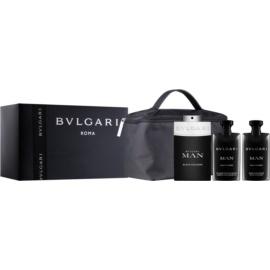 Bvlgari Man Black Cologne Geschenkset I.  Eau de Toilette 100 ml + After Shave Balsam 75 ml + Kosmetiktasche 1 ks
