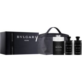 Bvlgari Man Black Cologne Gift Set  I.  Eau de Toilette 100 ml + Aftershave balsem  75 ml + Shampoo en Douchegel 75 ml + Cosmetica tas  1 ks