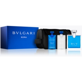 Bvlgari BLV pour homme Gift Set VI.  Eau De Toilette 100 ml + Aftershave Balm 75 ml + Shower Gel 75 ml + Cosmetic Bag