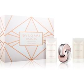 Bvlgari Omnia Crystalline Eau De Parfum coffret XII.  Eau de Parfum 40 ml + gel de duche 75 ml + leite corporal 75 ml