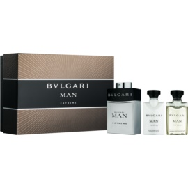 Bvlgari Man Extreme Gift Set  VI.  Eau de Toilette 60 ml + Aftershave balsem  40 ml + Douchegel 40 ml