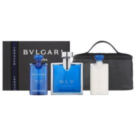 Bvlgari BLV pour homme ajándékszett VI.  Eau de Toilette 100 ml + borotválkozás utáni balzsam 75 ml + tusfürdő gél 75 ml + kozmetikai táska