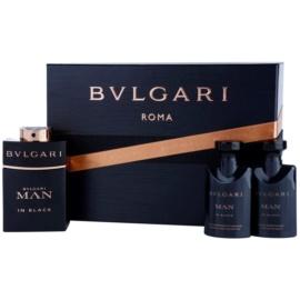 Bvlgari Man In Black Geschenkset III. Eau de Parfum 60 ml + After Shave Balsam 40 ml + Shampoo für den ganzen Körper 40 ml