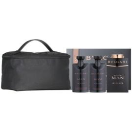 Bvlgari Man In Black Geschenkset VI.  Eau de Parfum 100 ml + After Shave Balsam 75 ml + Duschgel 75 ml + Kosmetiktasche