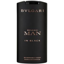 Bvlgari Man In Black żel pod prysznic dla mężczyzn 200 ml