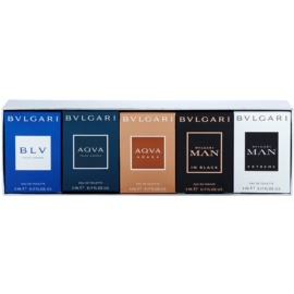 Bvlgari The Miniature Collection Gift Set IV.  Eau De Parfum 5 ml + Eau De Toilette 4 x 5 ml