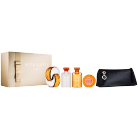 Bvlgari Omnia Indian Garnet Gift Set  III.  Eau de Toilette 65 ml + Body Lotion  40 ml + Douchegel 40 ml + Zeep 50 g + Cosmetica tas