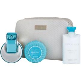 Bvlgari Omnia Paraiba Gift Set I.  Eau De Toilette 65 ml + Soap 75 g + Body Milk 75 ml + Cosmetic Bag