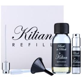By Kilian Back to Black, Aphrodisiac Geschenkset I. Eau de Parfum Füllung 50 ml + nachfüllbare Flasche 7,5 ml + trichter  + Zersträuber