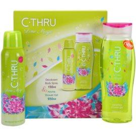 C-THRU Lime Magic dárková sada III. deodorant ve spreji 150 ml + sprchový gel 250 ml