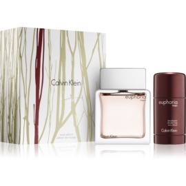 Calvin Klein Euphoria Men lote de regalo VII.  eau de toilette 100 ml + deo barra 75 ml
