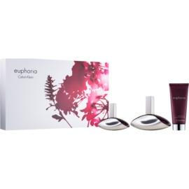 Calvin Klein Euphoria set cadou XIII.  Eau de Parfum 100 ml + Eau de Parfum 30 ml + Lotiune de corp 100 ml