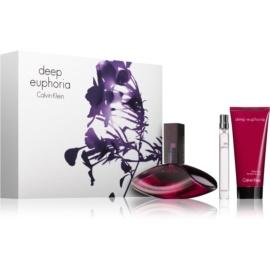 Calvin Klein Deep Euphoria ajándékszett II.  Eau de Parfum 100 ml + testápoló tej 100 ml + Eau de Parfum 10 ml