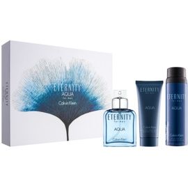 Calvin Klein Eternity Aqua for Men Geschenkset IX.  Eau de Toilette 100 ml + Körperspray 152 g + After Shave Balsam 100 ml