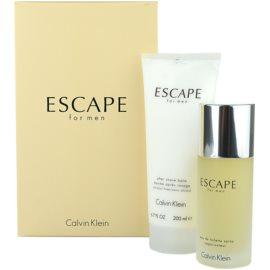 Calvin Klein Escape for Men dárková sada II.  toaletní voda 100 ml + balzám po holení 200 ml