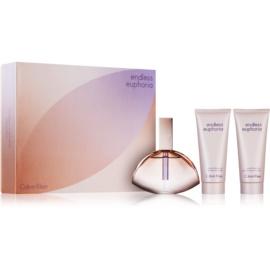 Calvin Klein Endless Euphoria darčeková sada I.  parfémovaná voda 125 ml + telové mlieko 100 ml + sprchový gel 100 ml