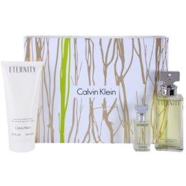Calvin Klein Eternity darčeková sada V. parfémovaná voda 100 ml + telové mlieko 200 ml + parfémovaná voda 15 ml