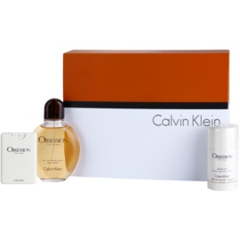 Calvin Klein Obsession for Men darilni set IV. toaletna voda 125 ml + toaletna voda 20 ml + Deo-Stick 75 ml