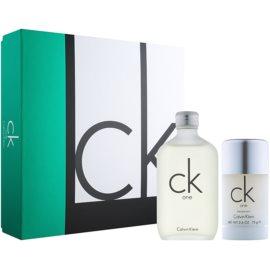 Calvin Klein CK One set cadou III  Apa de Toaleta 100 ml + Deostick 75 ml